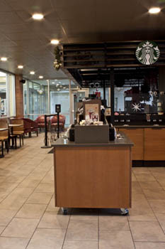 Starbucks at the Newton Gresham Library
