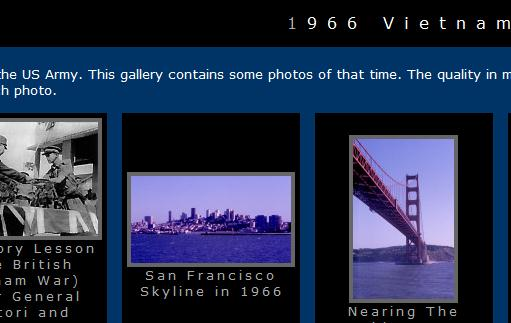 The 1966 Vietnam photo archive website